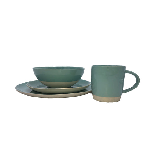 Shell Bisque 16-piece place setting - Mist