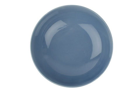 Shell Bisque Round Serving Bowl in Blue