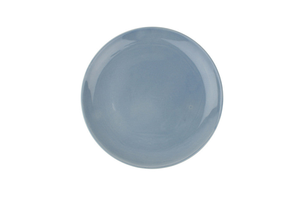 Shell Bisque Salad Plate in Blue