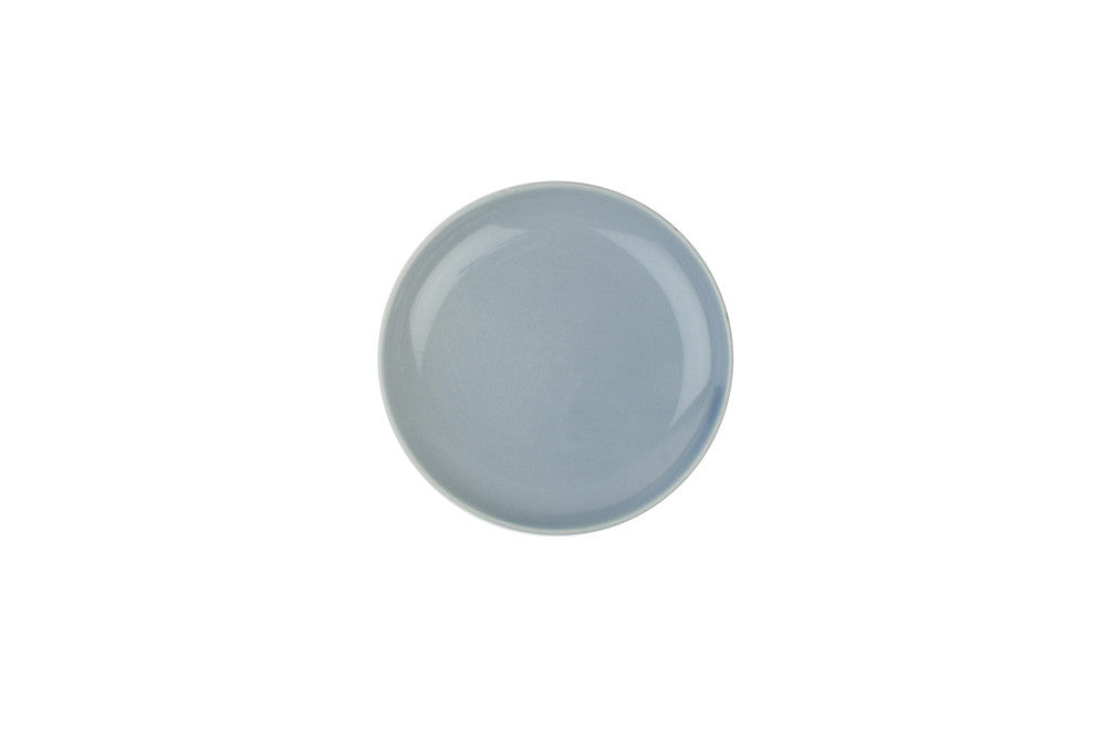 Shell Bisque Tidbit Plate in Blue - Set of 4