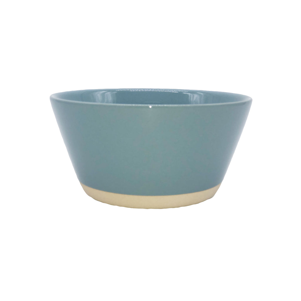 Rimmed Shell Bisque Cereal Bowl in Blue - Set of 4