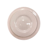 Rimmed Shell Bisque Salad Plate in Pink - Set of 4