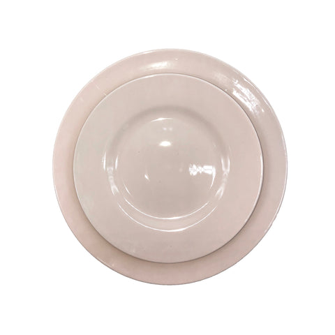 Shell Bisque Tidbit Plate in White - Set of 4