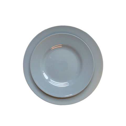 Rimmed Shell Bisque Salad Plate in Blue - Set of 4