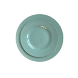 Rimmed Shell Bisque Dinner Plate in Mist - Set of 4