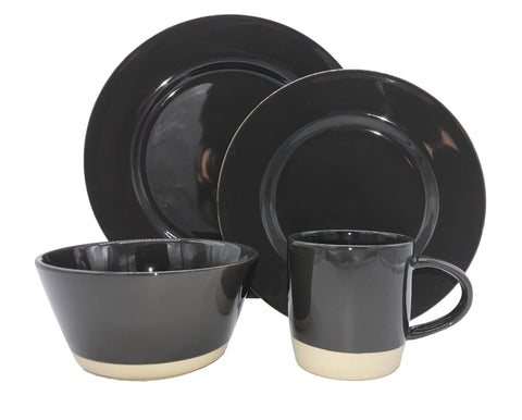 Shell Bisque 4 Piece Place Setting in Tobacco