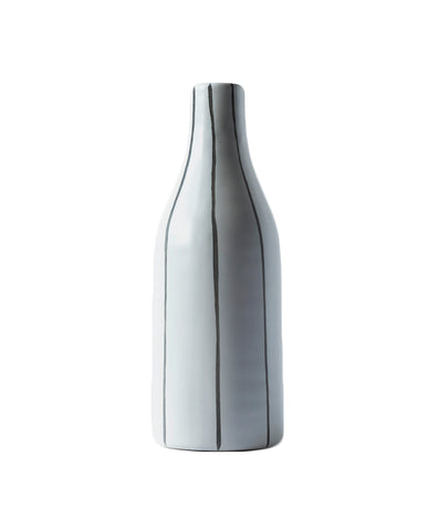 Morandi Large Bottle Vase - Striped