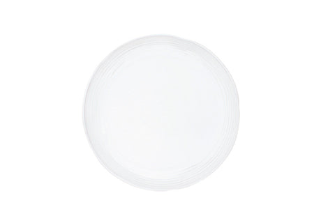 Lines Salad Plate in White