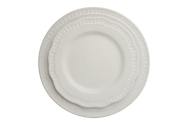 Ciara Dinner Plate in White