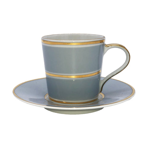La Vienne Espresso Cup & Saucer in Blue - Set of 4