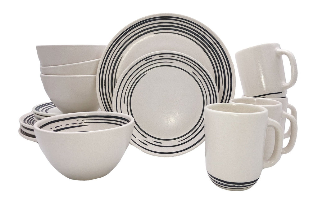 Salamanca 16-piece place setting - Stripe