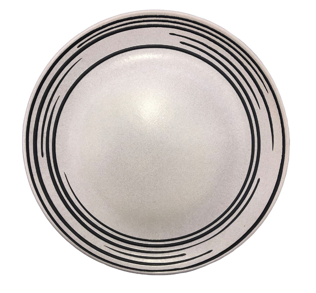 Salamanca Dinner Plate Black & White Stripe - Set of 4