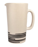Salamanca Pitcher Black & White Stripe