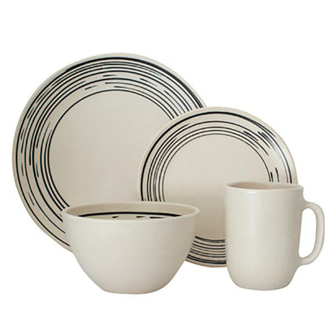 Salamanca 4-piece place setting - Stripe