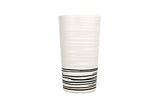 Salamanca Vase in Black & White Stripe - Canvas Home