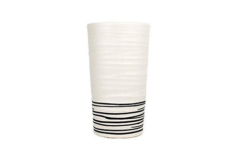 Salamanca Vase Black & White Stripe
