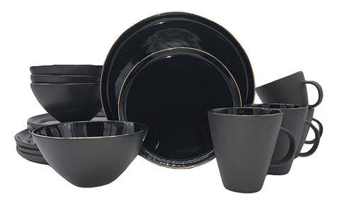 Abbesses Noir 16-piece place setting