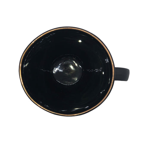 Abbesses Noir Espresso Cup w/Gold Rim - Set of 4