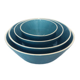 Gerona Straight Side Bowl - Medium - Blue - Set of 2