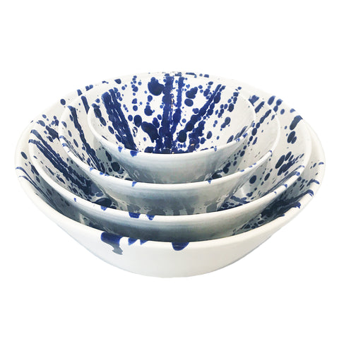 Gerona Straight Side Bowl - Small - Splatter