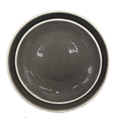 Gerona Dinner Plate in Mud - Set of 2