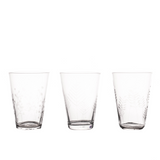Sienna Etched Wine Glasses - Set of 6