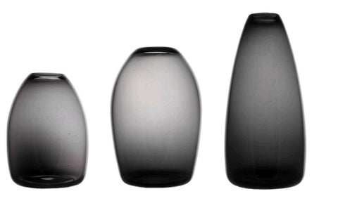 Wren Smoked Vase - Set of 3 Large Vases (22, 17, 15)