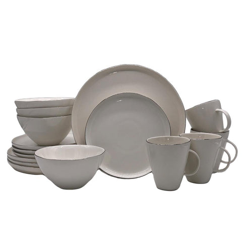 Tinware 12 Piece Breakfast Set with Mugs - Cashmere Blue