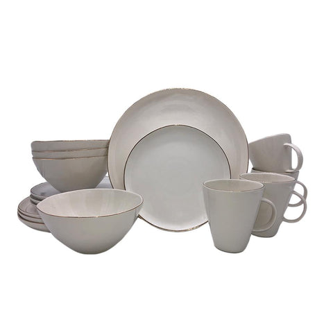 Ciara Salad Plate in Grey