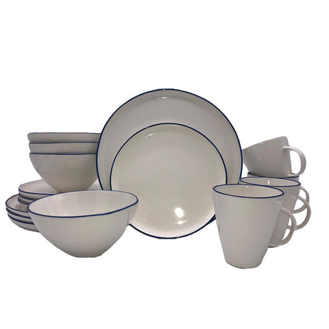 Abbesses Small Platter in Grey Rim
