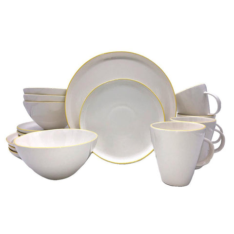 Abbesses Small Platter in Yellow Rim