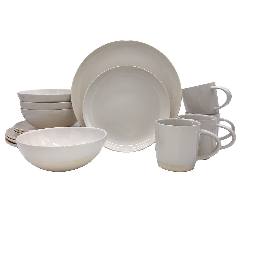 Shell Bisque 16-piece place setting - White