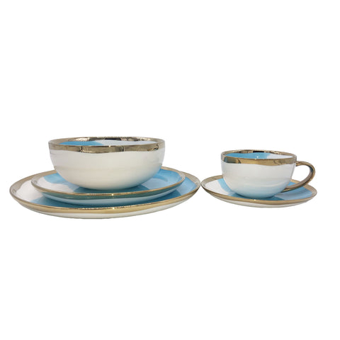 Dauville Bleu 5-piece place setting - Gold