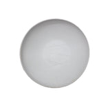 Taroudant Medium White Leather Glaze Asymmetrical Nesting Bowl
