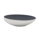 Taroudant Medium Black Gunmetal Glaze Asymmetrical Nesting Bowl