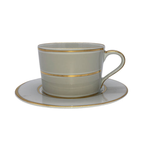 La Vienne Cup & Saucer in Grey - Set of 4