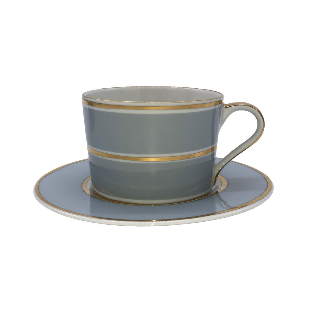 La Vienne Cup & Saucer in Blue - Set of 4