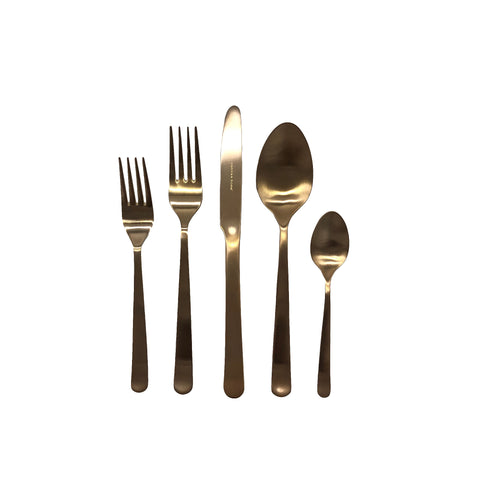 Oslo Cutlery Set in Matte Gold