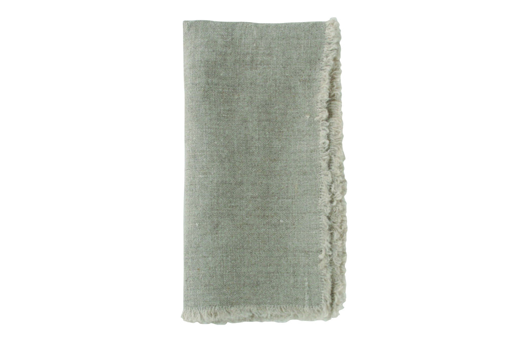 Lithuanian Linen Fringe Napkin in Natural