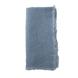 Lithuanian Linen Fringe Napkin in Sky Blue