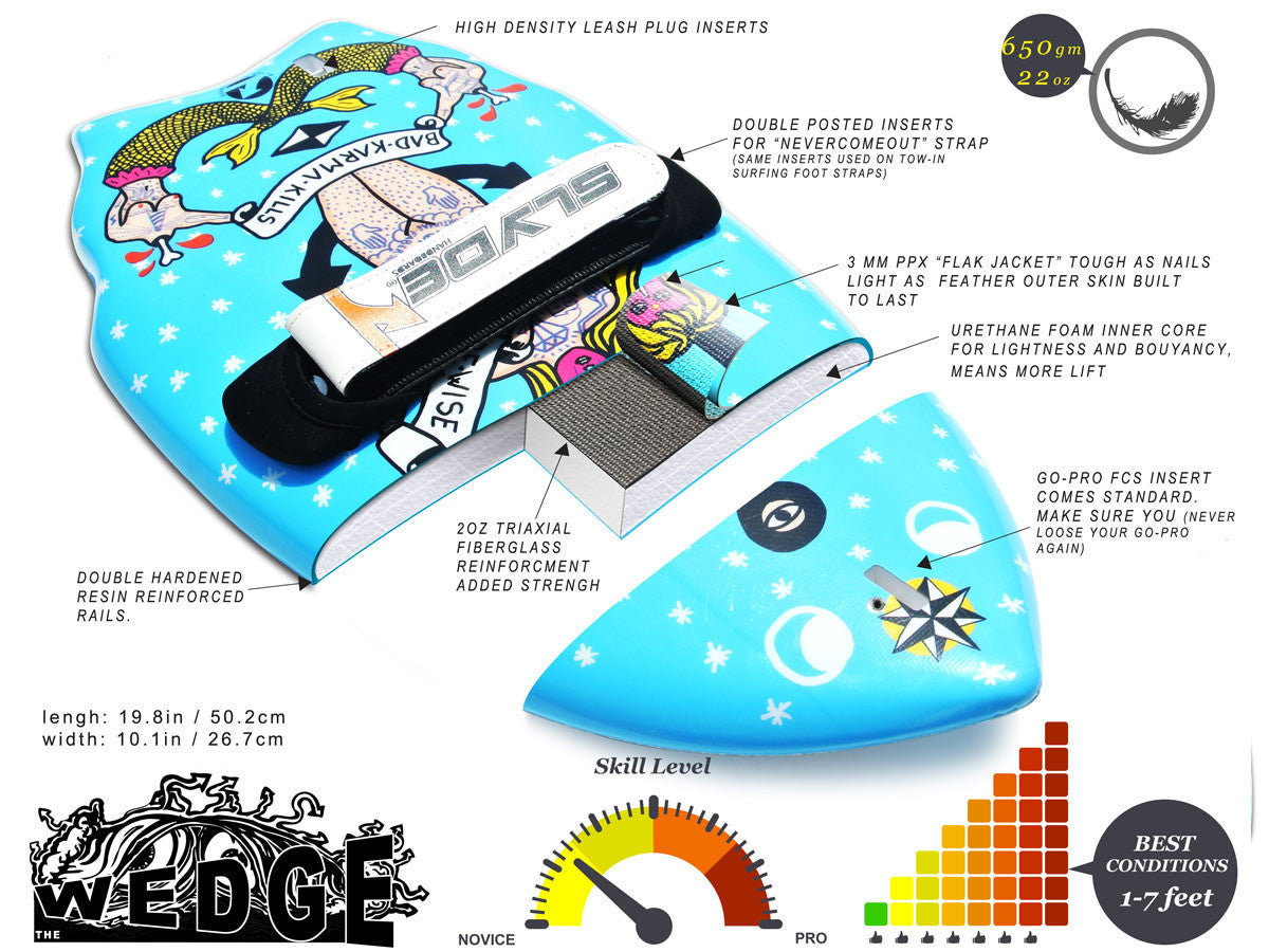 The Hipster handboard from slyde handplanes for bodysurfing - Island ...