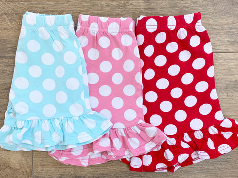 Girl's Dot Ruffle Shorts