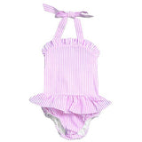 baby toddler and girls seersucker one piece swimsuit