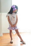 Girl's Striped Ruffle Shorts BUNDLE