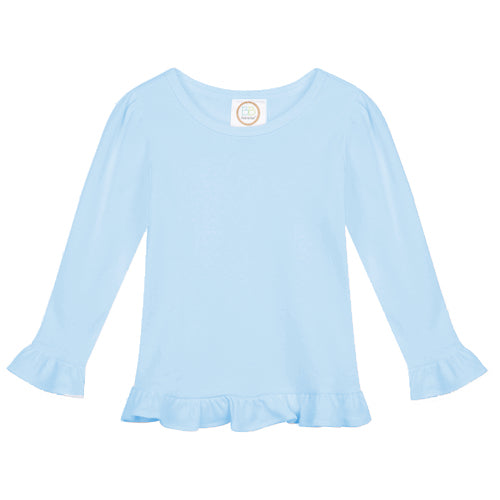 Girls Long Sleeve Ruffle Tee