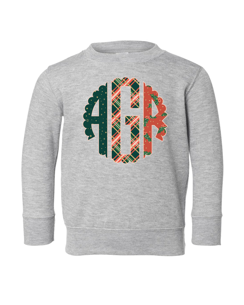 Holiday Monogram | Pullover | Kids