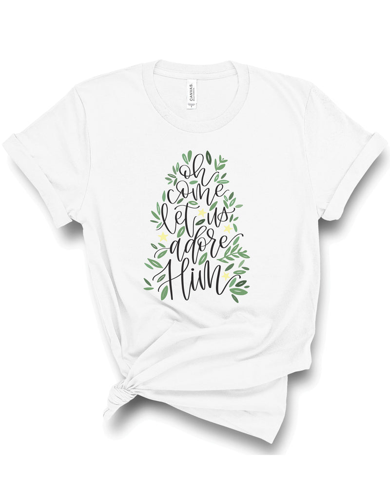Oh Come Let Us Adore Him | Tee | Adult