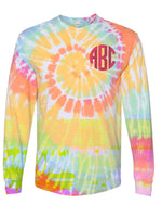 Youth  Monogrammed Tie Dye Tee | Long Sleeve