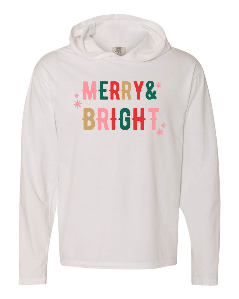 Merry + Bright | Hooded Tee | Adult