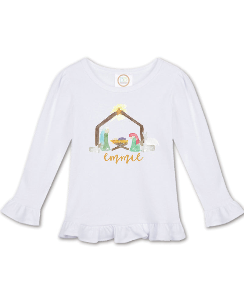 Nativity | Ruffle Tee | Long Sleeve